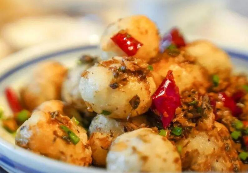 How To Make Fried Tangyuan With Suan Cai And Chilis?