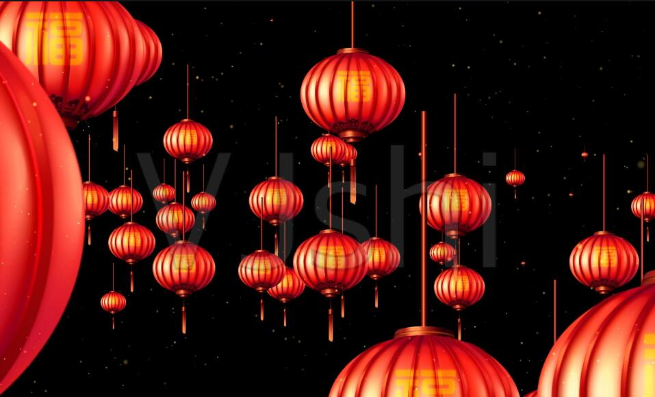 What Is Chinese New Year?-red lanterns